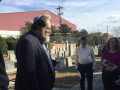 Jonathan Leader Giving Tours of the Cemetery
