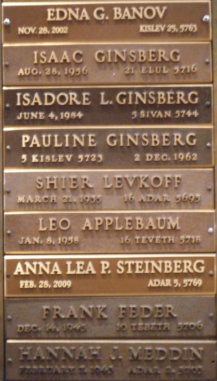 emanu el synagogue memorial plaques jewish historical society of ginsberg