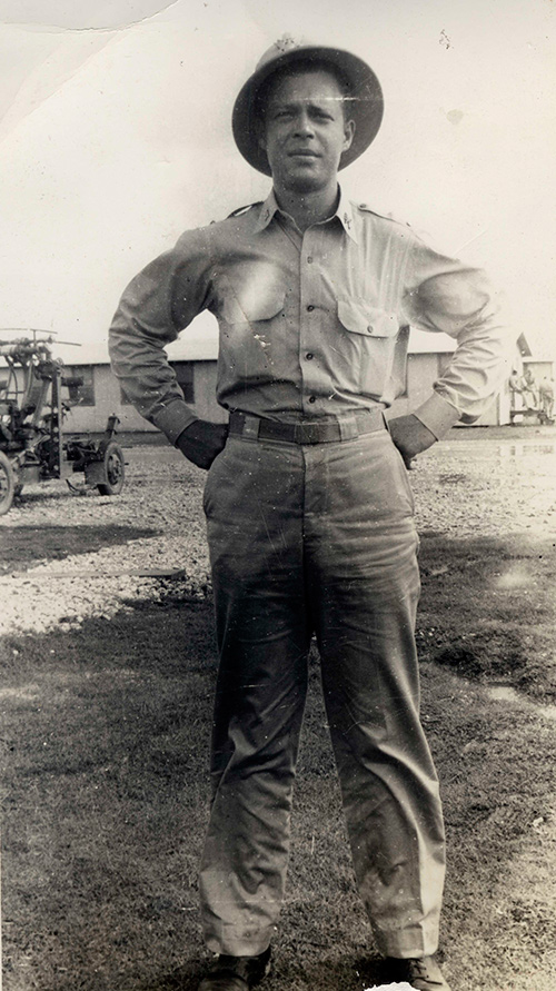 Bernard Warshaw at Fort Stewart, GA in July 1942